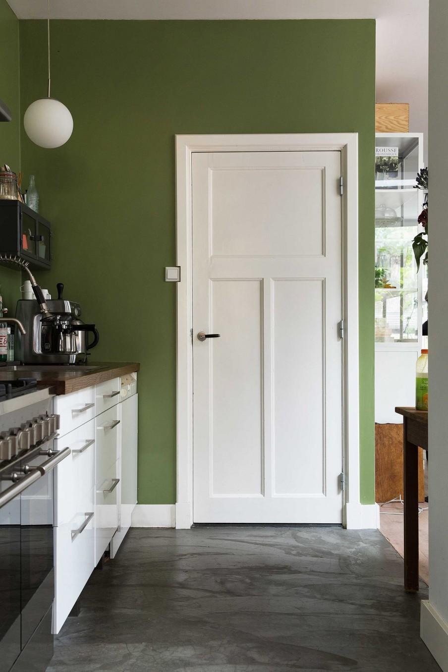 cuisine vert et blanc