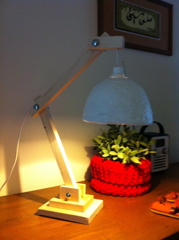 zelfgemaakte lamp