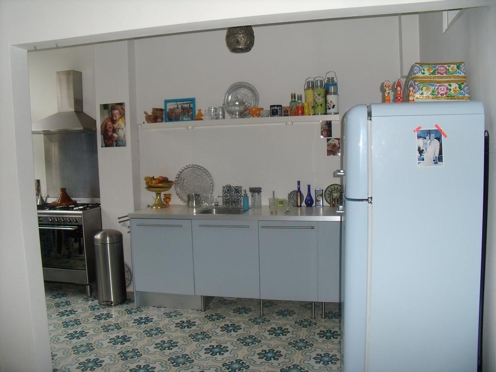 lichtblauwe keuken