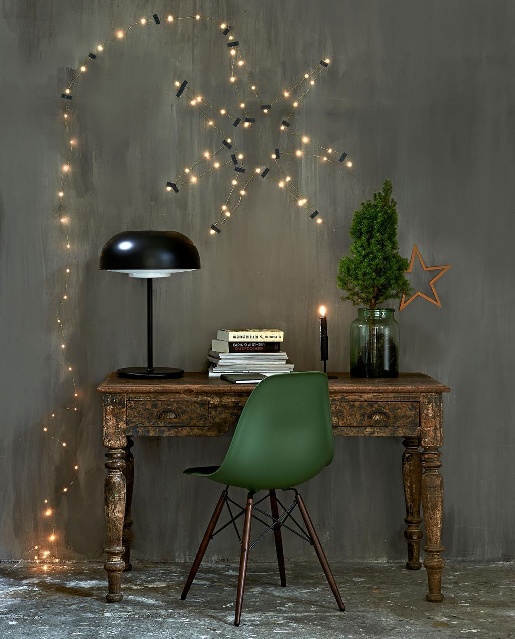vtwonen 12-2019 | styling kerst werkplek verlicht