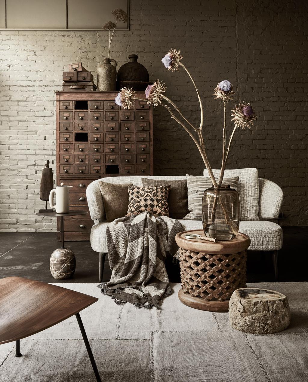 vtwonen 13-2019 | styling bruin de trendkleur woonkamer