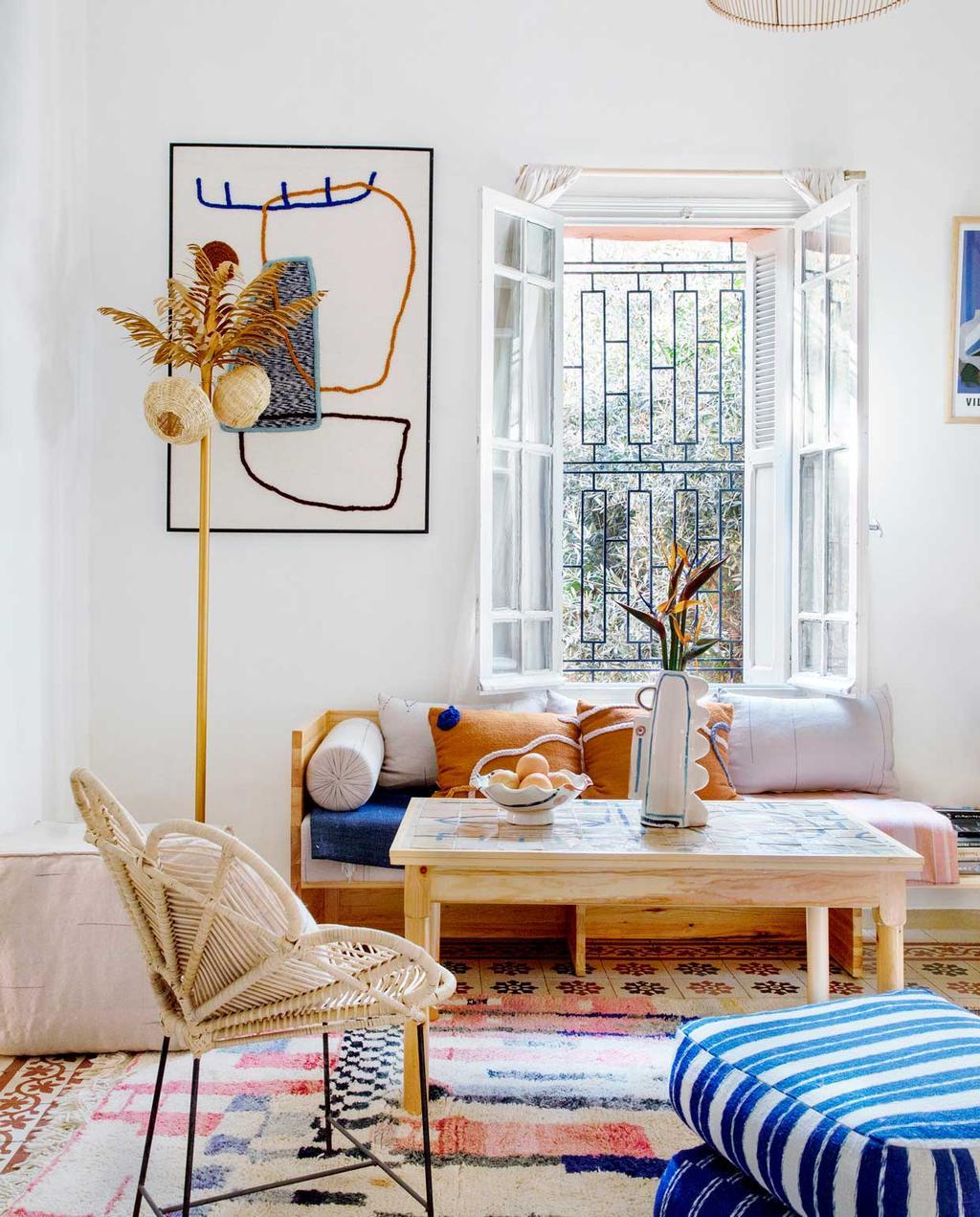 vtwonen 2020-09 | Binnenkijken marrakech | lichte woonkamer met Marokkaanse sfeer