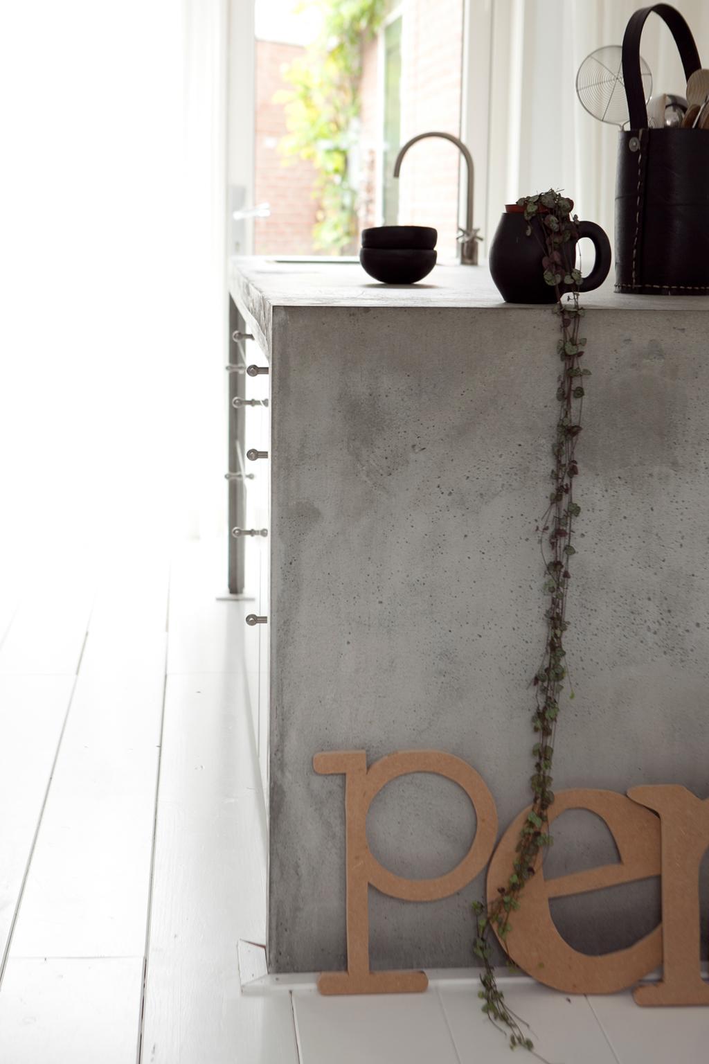 betonnen kookeiland