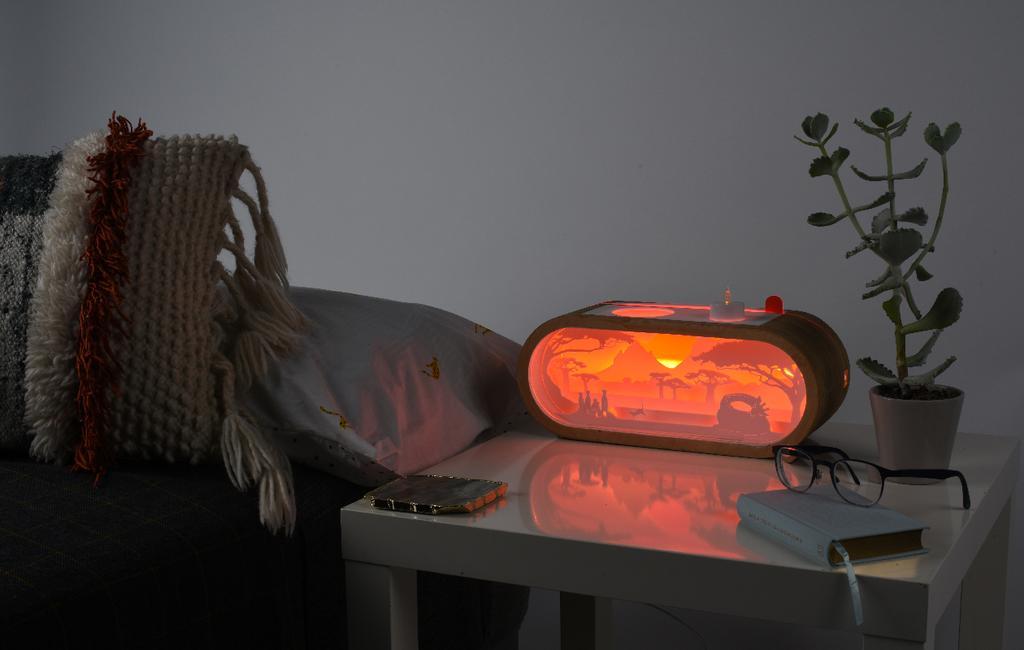 vtwonen blog studentdesign | design nachtlampje rood licht natuurlijk slapen