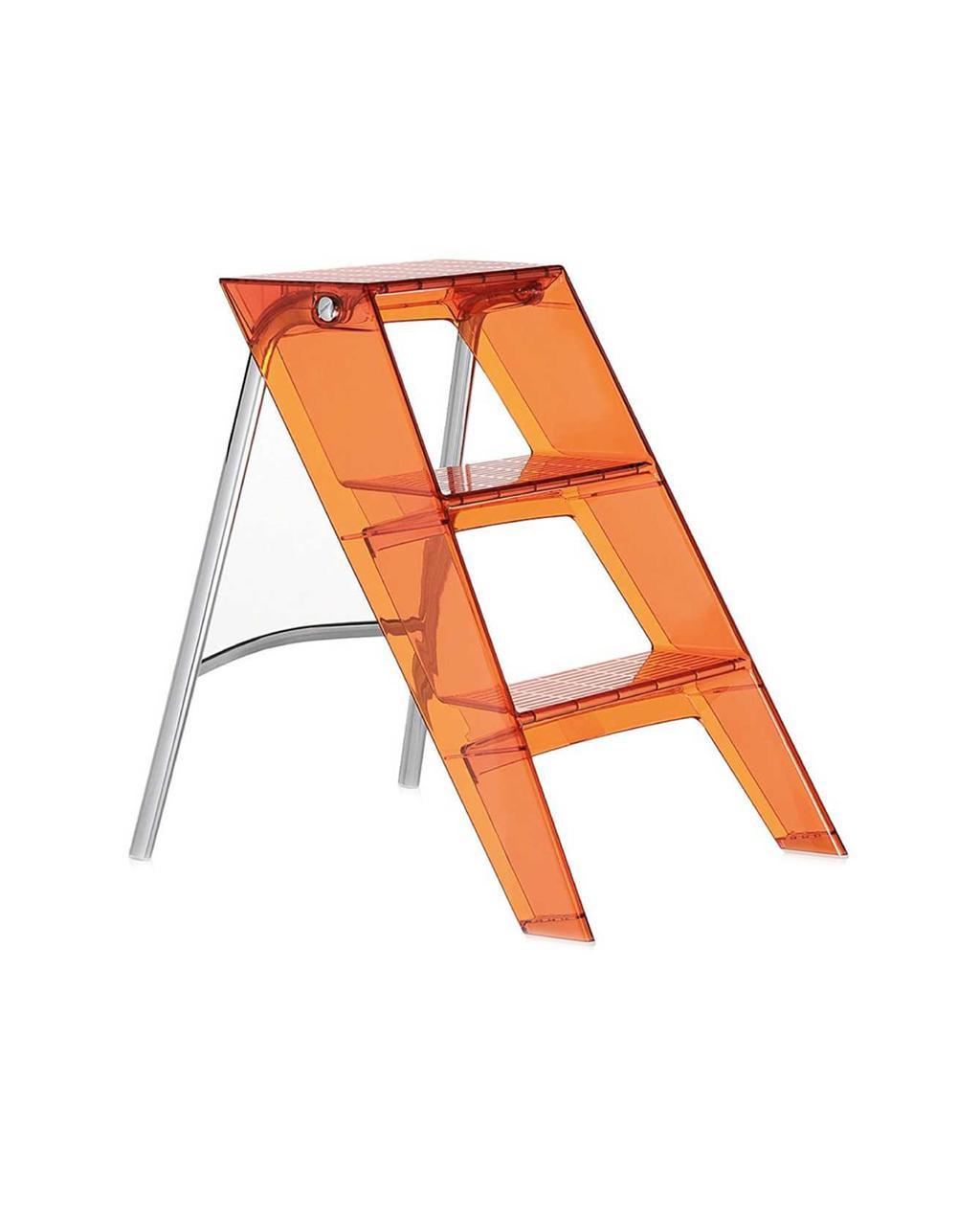 Oranje ladder doorzichtig glanzend design