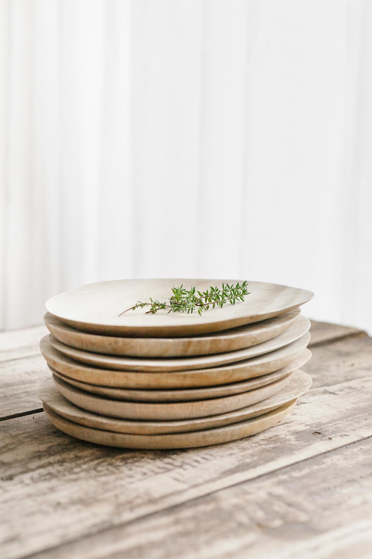 Houten tableware sfeer