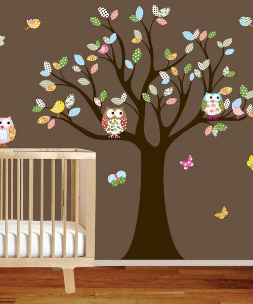 Babykamer met uiltjes