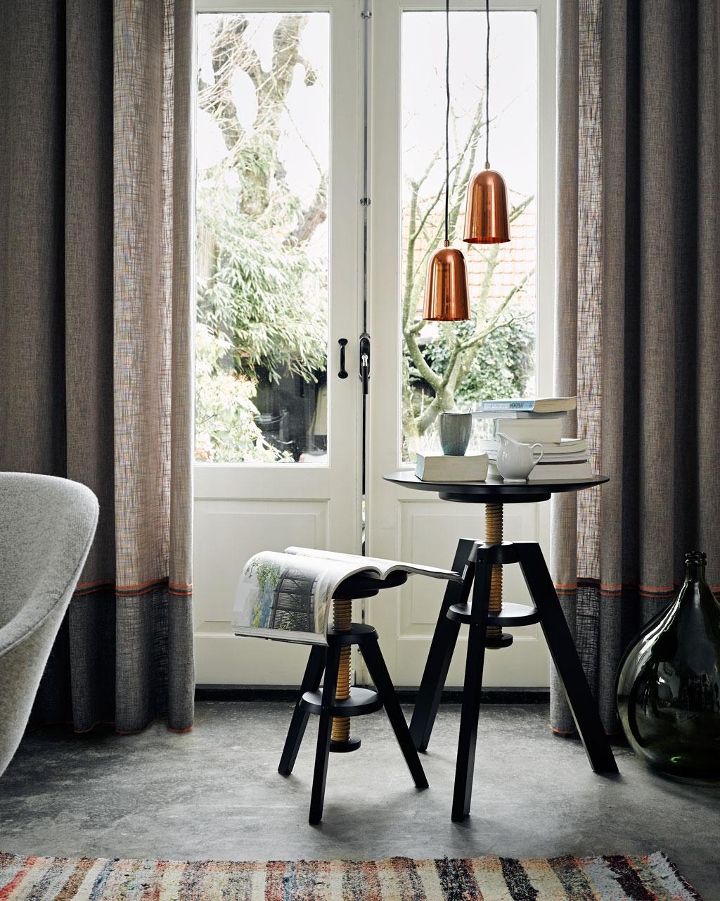 huiscollectie gordijnen met fluo accent grijs fluor
