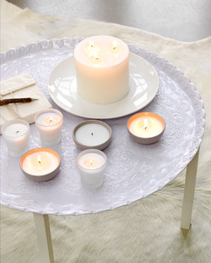 dienblad kaarsen