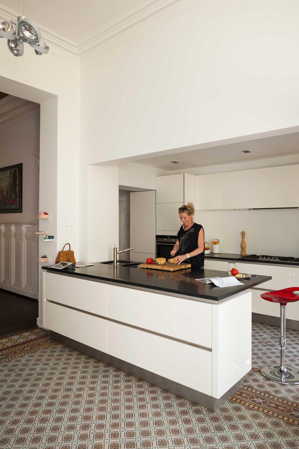 herenhuis keuken wit