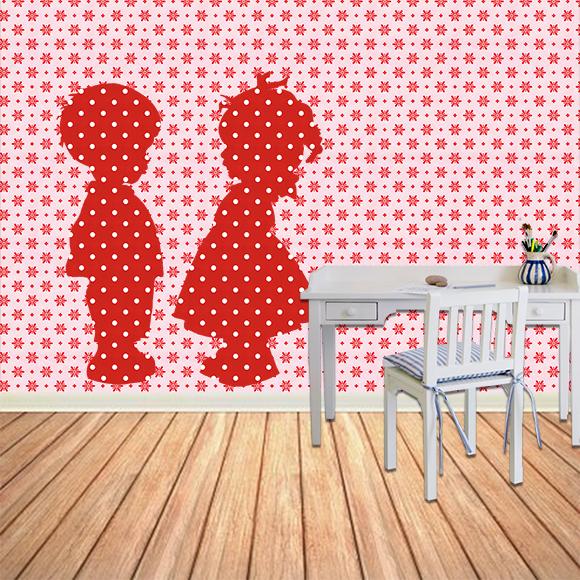 Behangfiguur van Studio Poppy