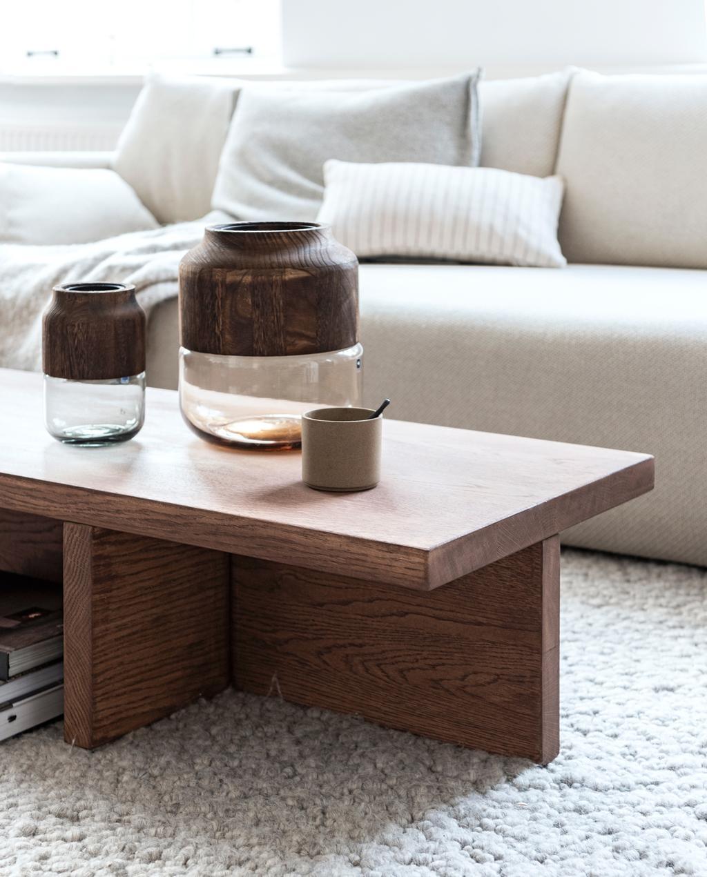 vtwonen 1-2020 | DIY salontafel woonkamer zijaanzicht gedecoreerd