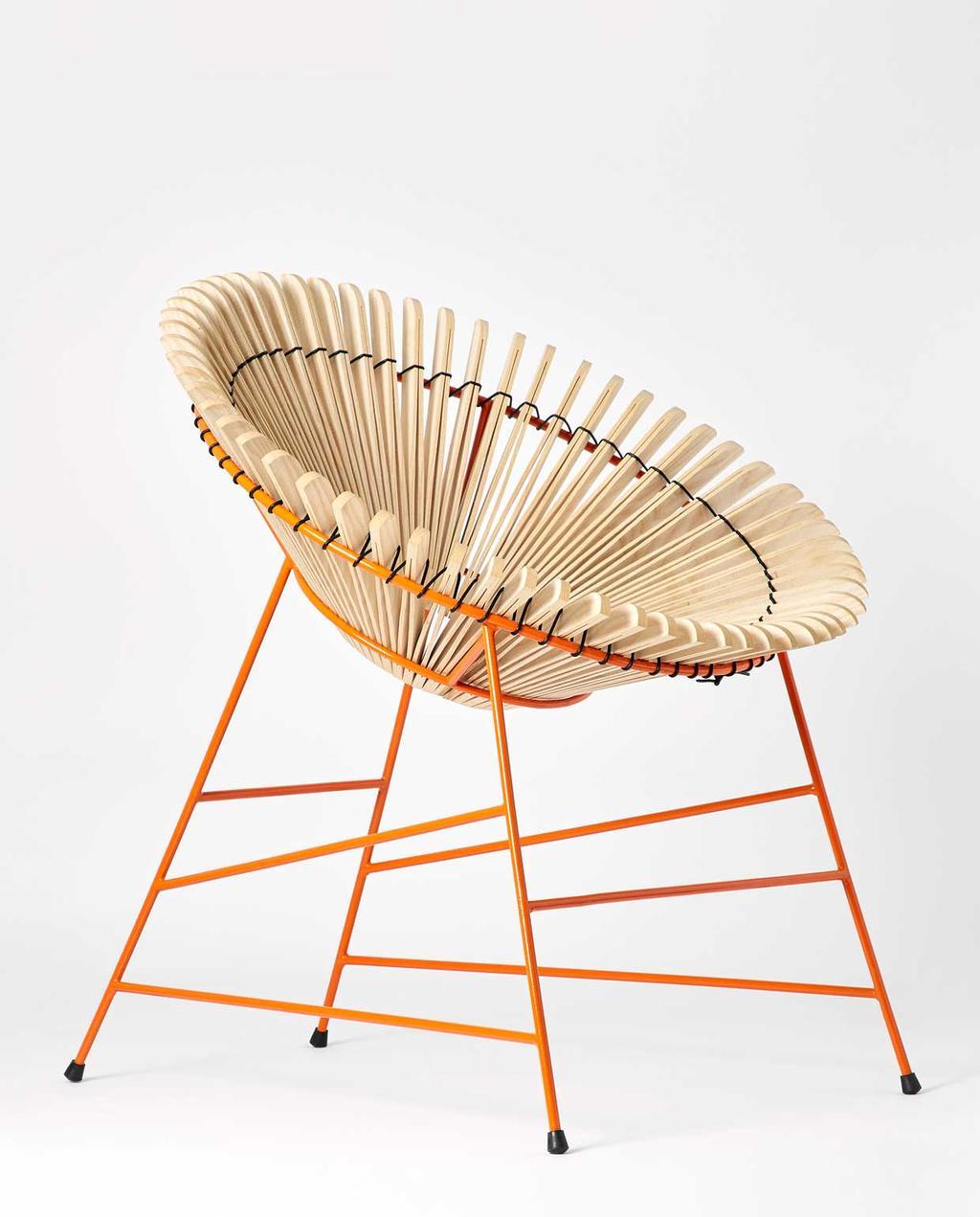 vtwonen | studentdesign | concertina-collectie | Huw Evans | stoel van hout