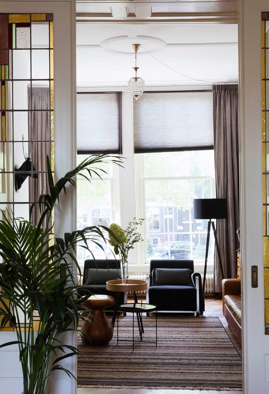 porte vitraux salon