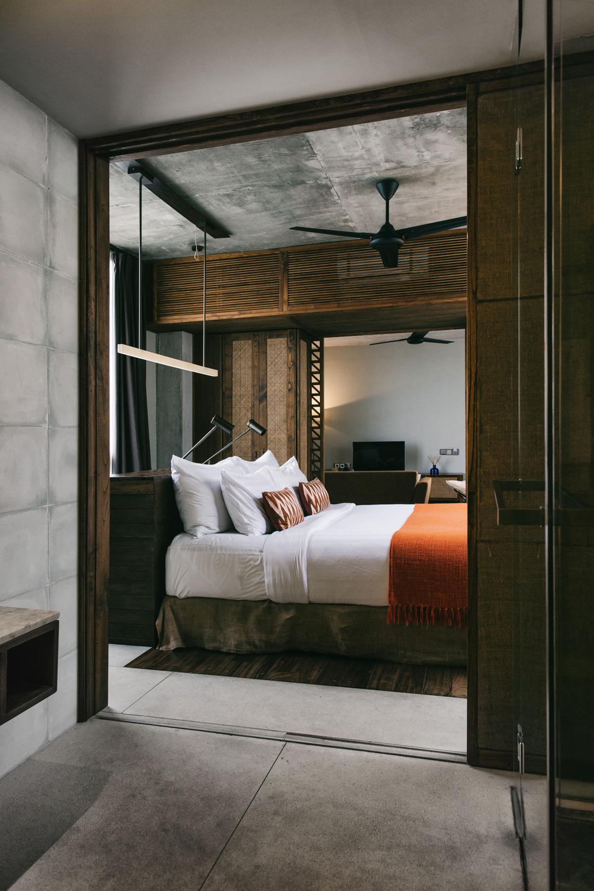 bed oranje sprei duurzame slaapkamer