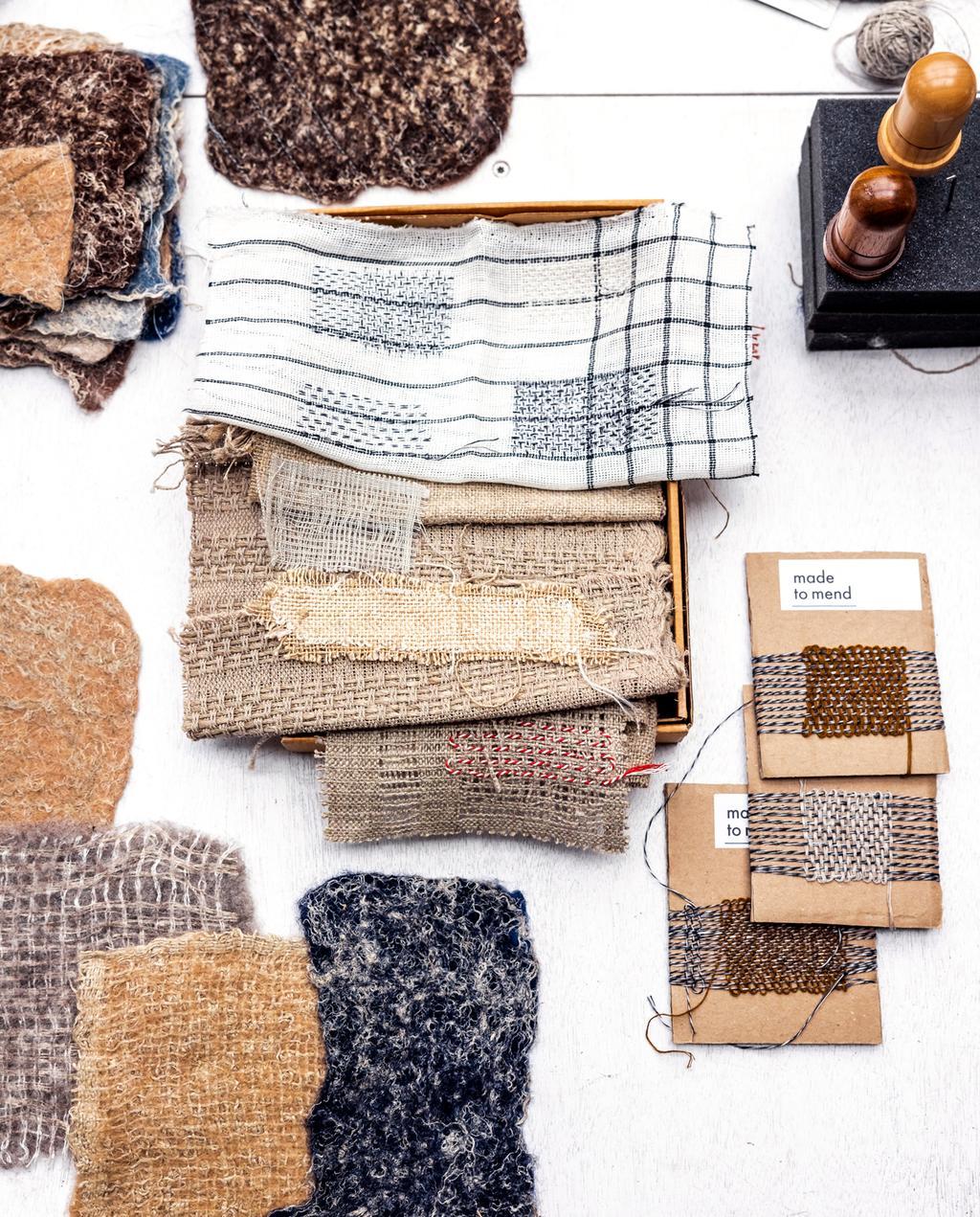 diverse textiel en vilt