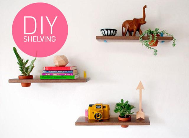 plant in boekenplank