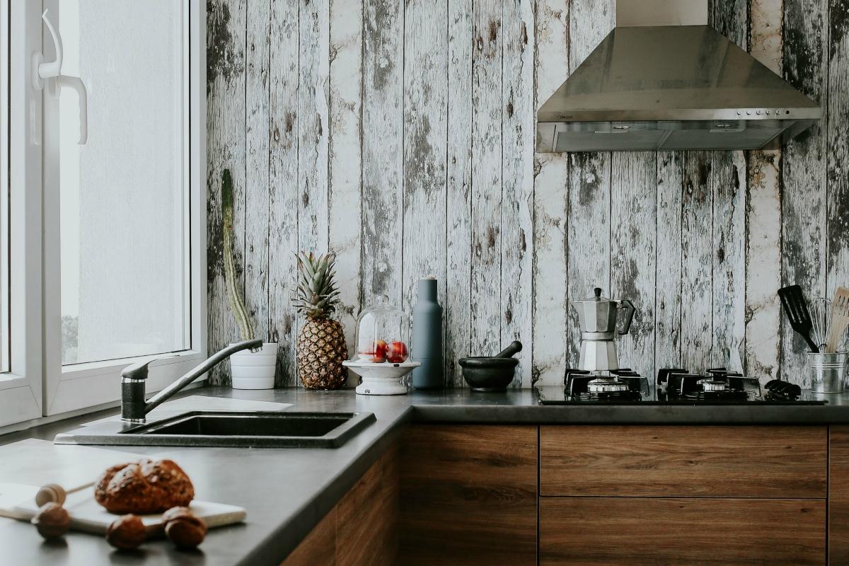 kleine keuken hout BSH
