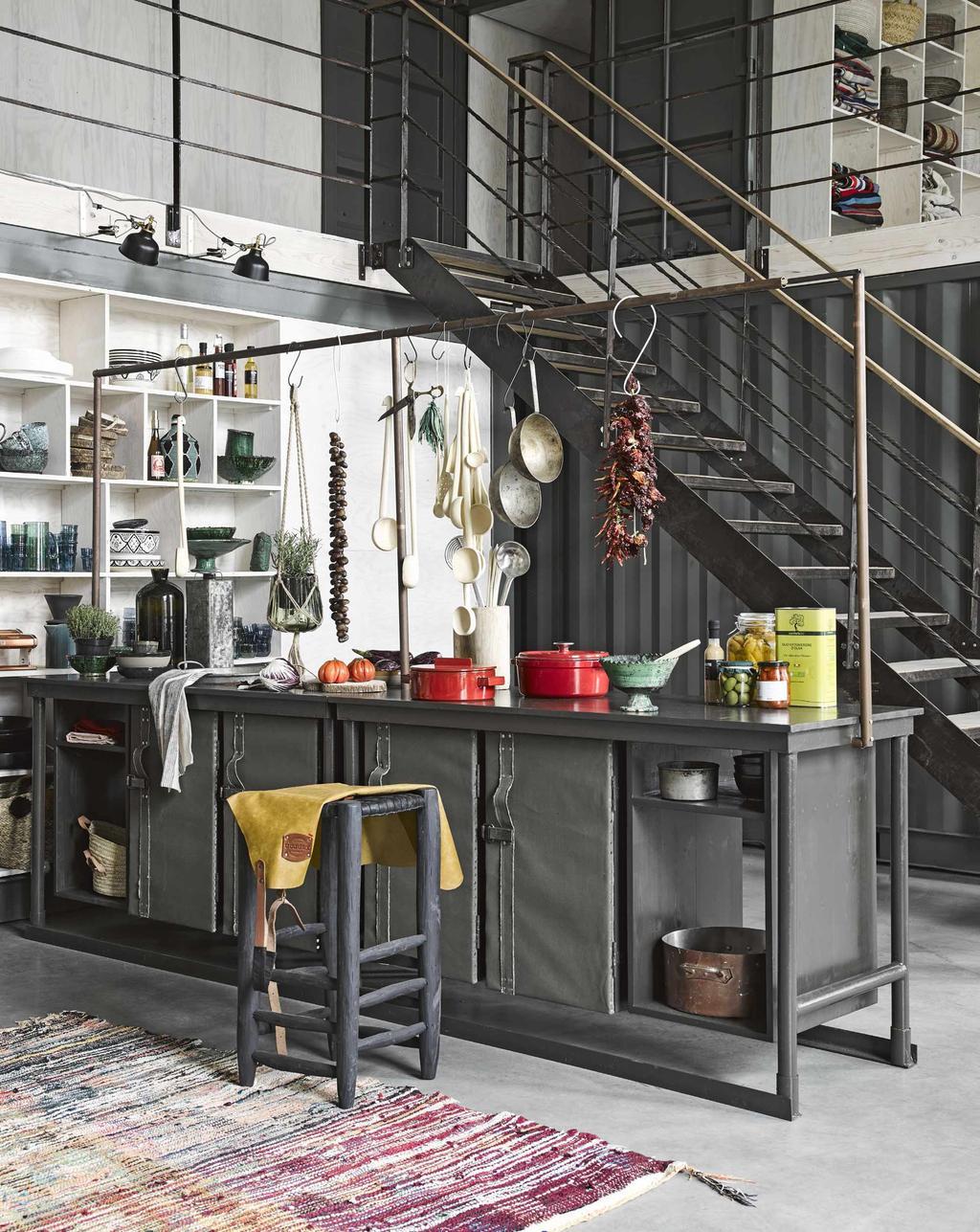 bloc cuisine gris