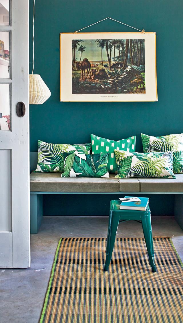 Groene jungle kussenhoezen