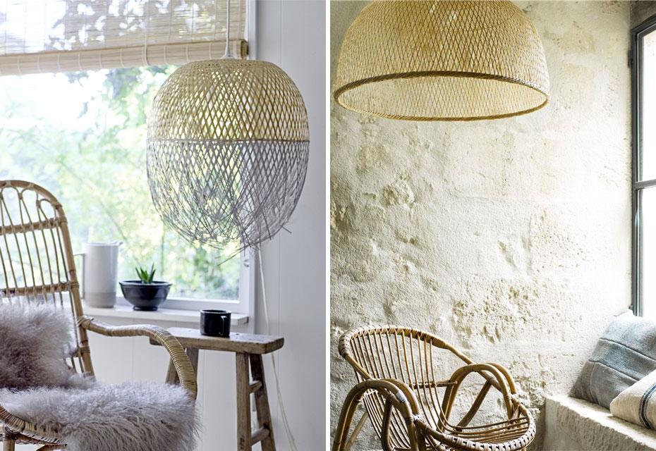 Klaar voor de zomer met rotan en bamboe hanglampen