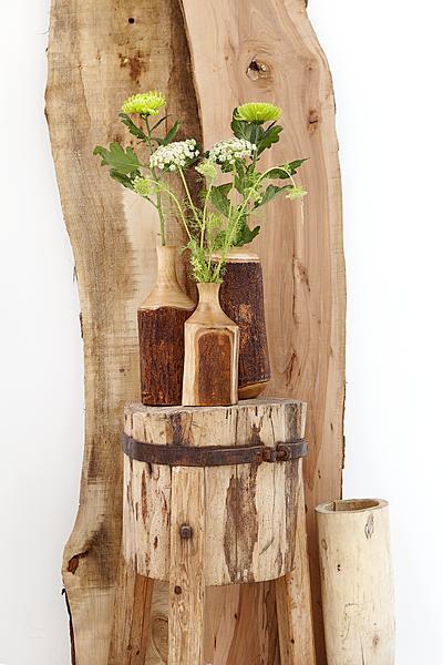 Vazen van hout