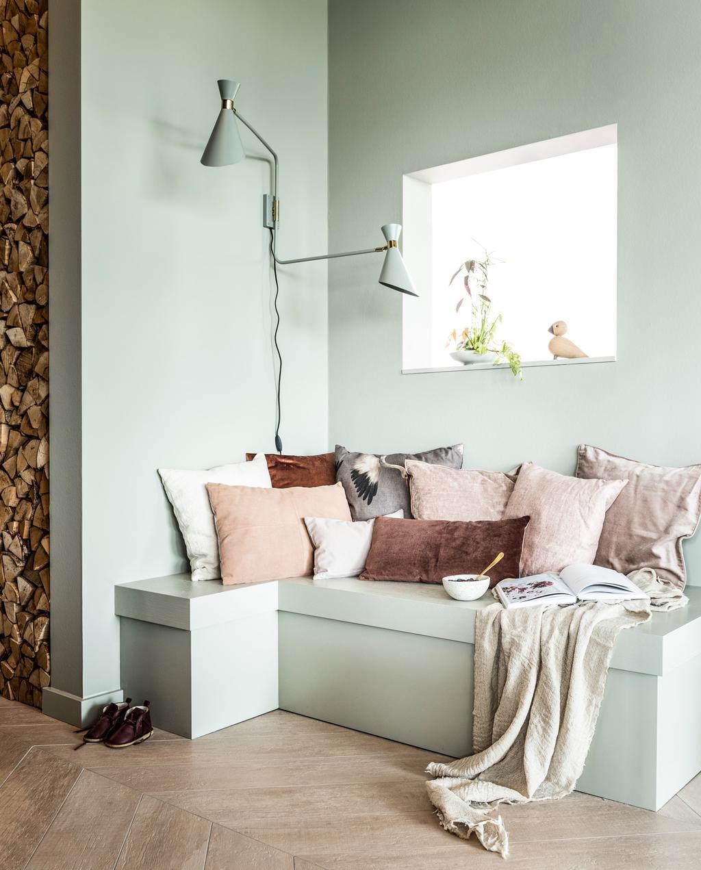 lichtgroene woonkamer van van wanrooij