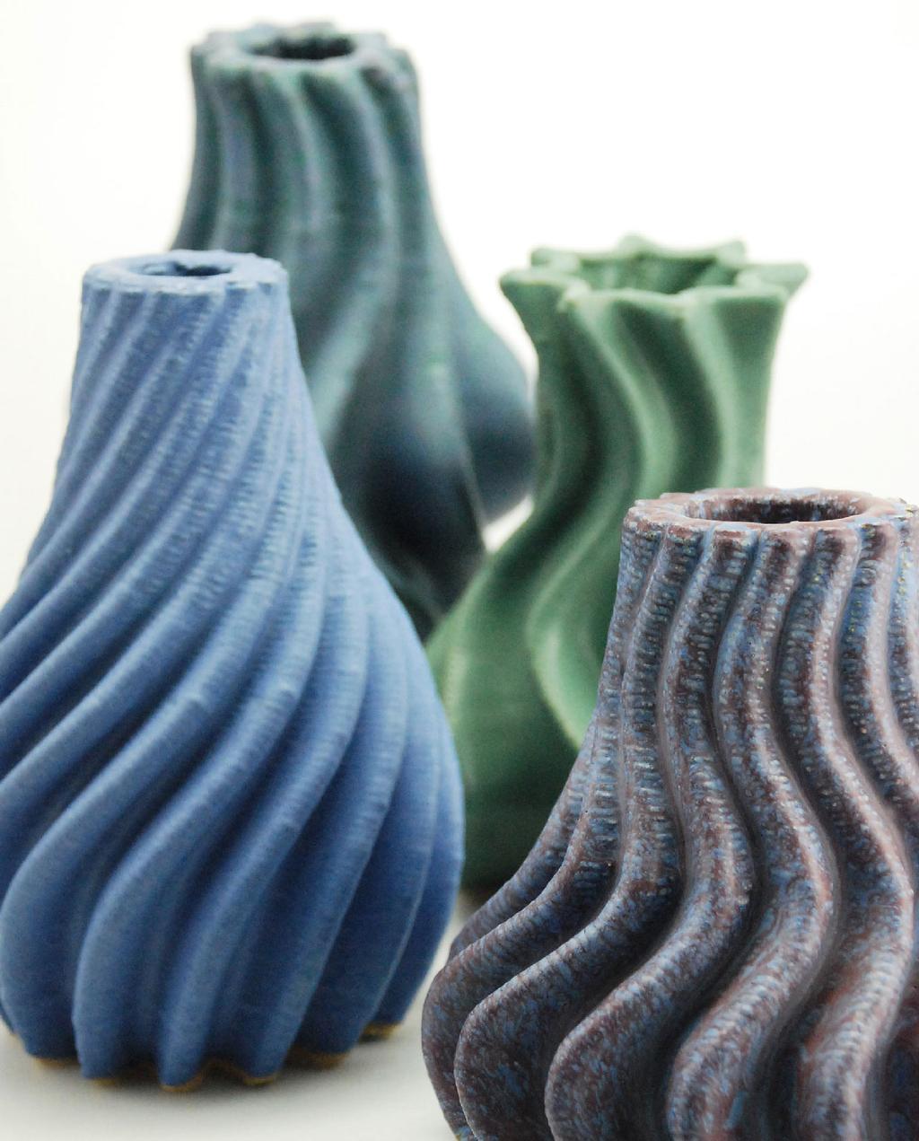 vtwonen blog studentdesign | 3D printen vier organisch gevormde vazen