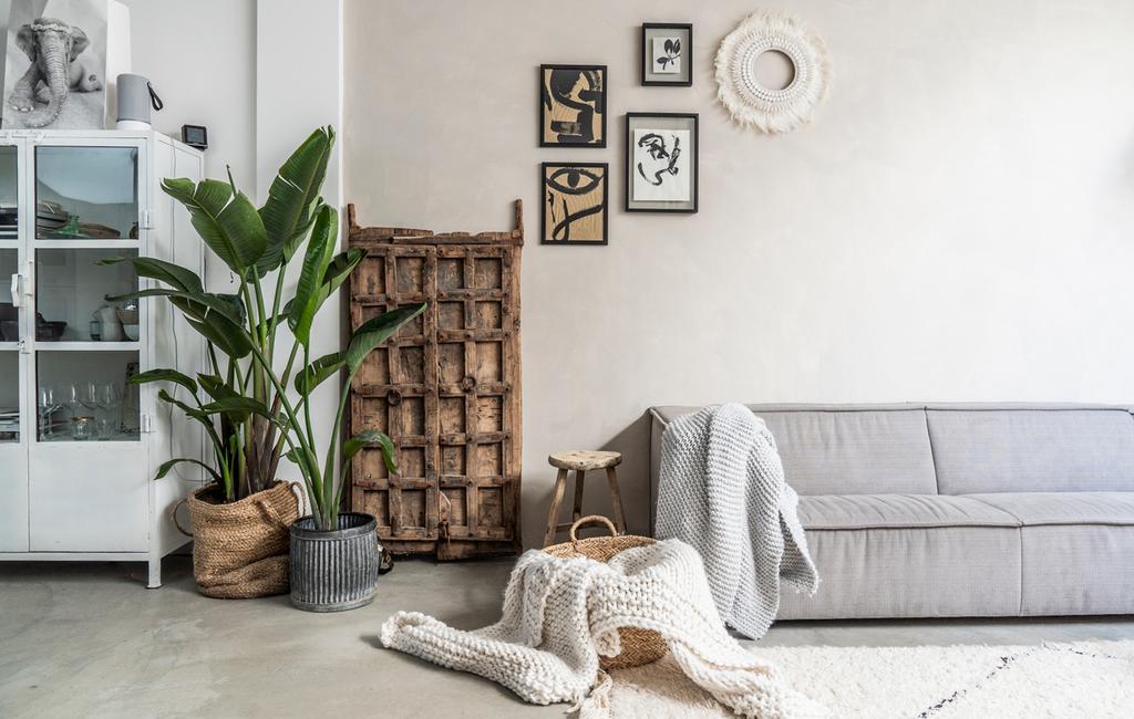 vtwonen binnenkijken special 2019 | binnenkijken in een tussenwoning in Haarlem woonkamer