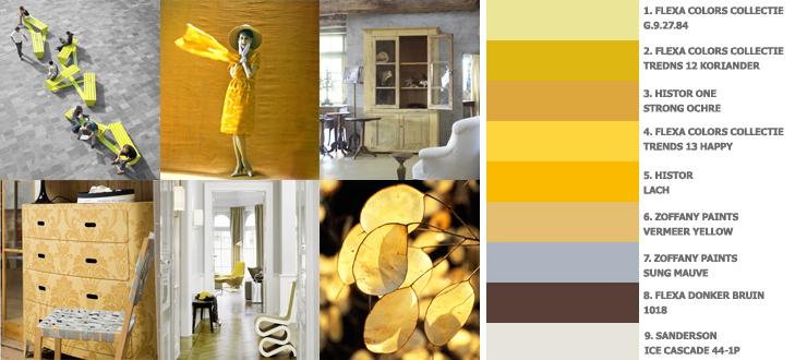 geel voor energie in je woonkamer
