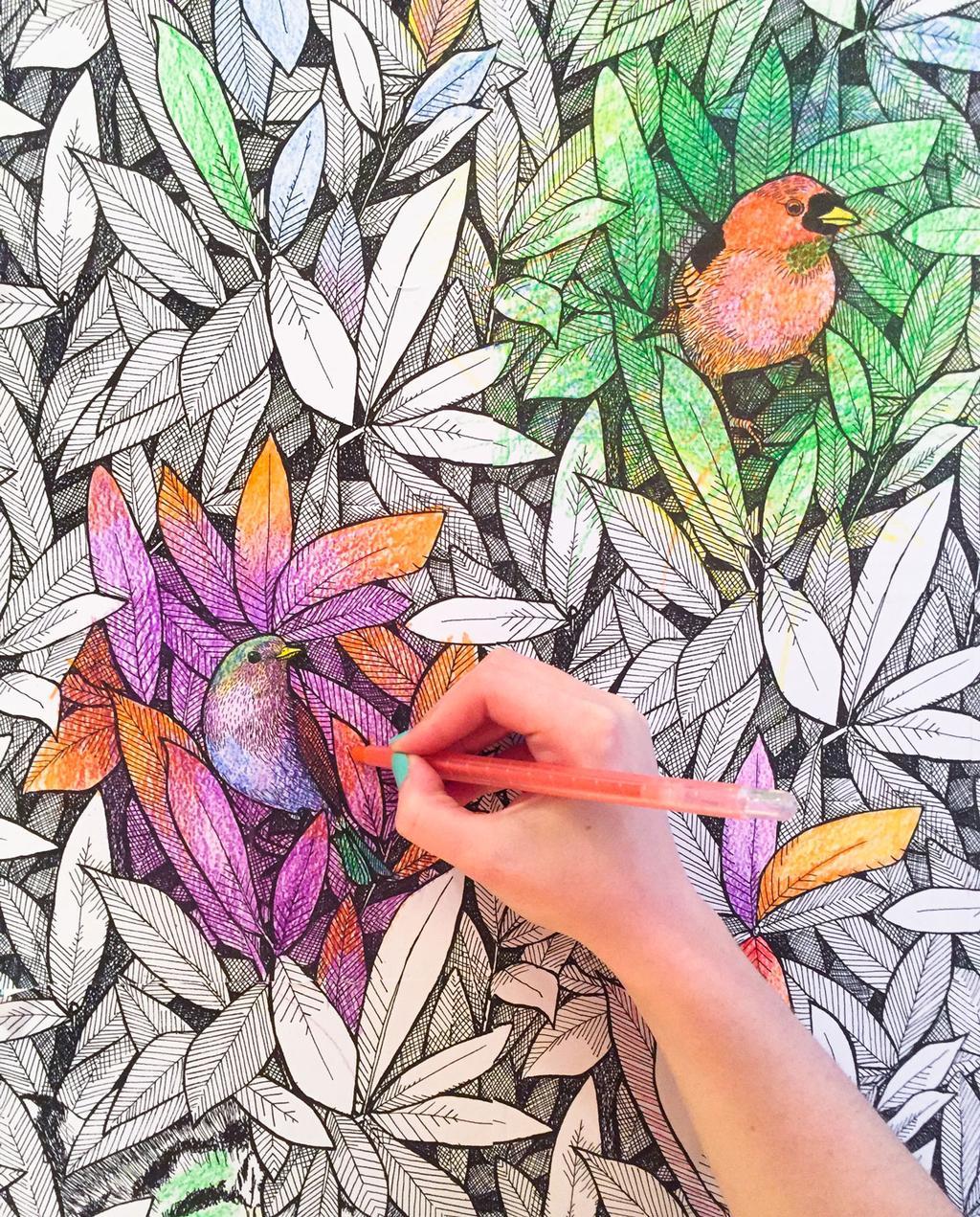 vtwonen | Blog StudentDesign Julia Groth behang kleurplaat