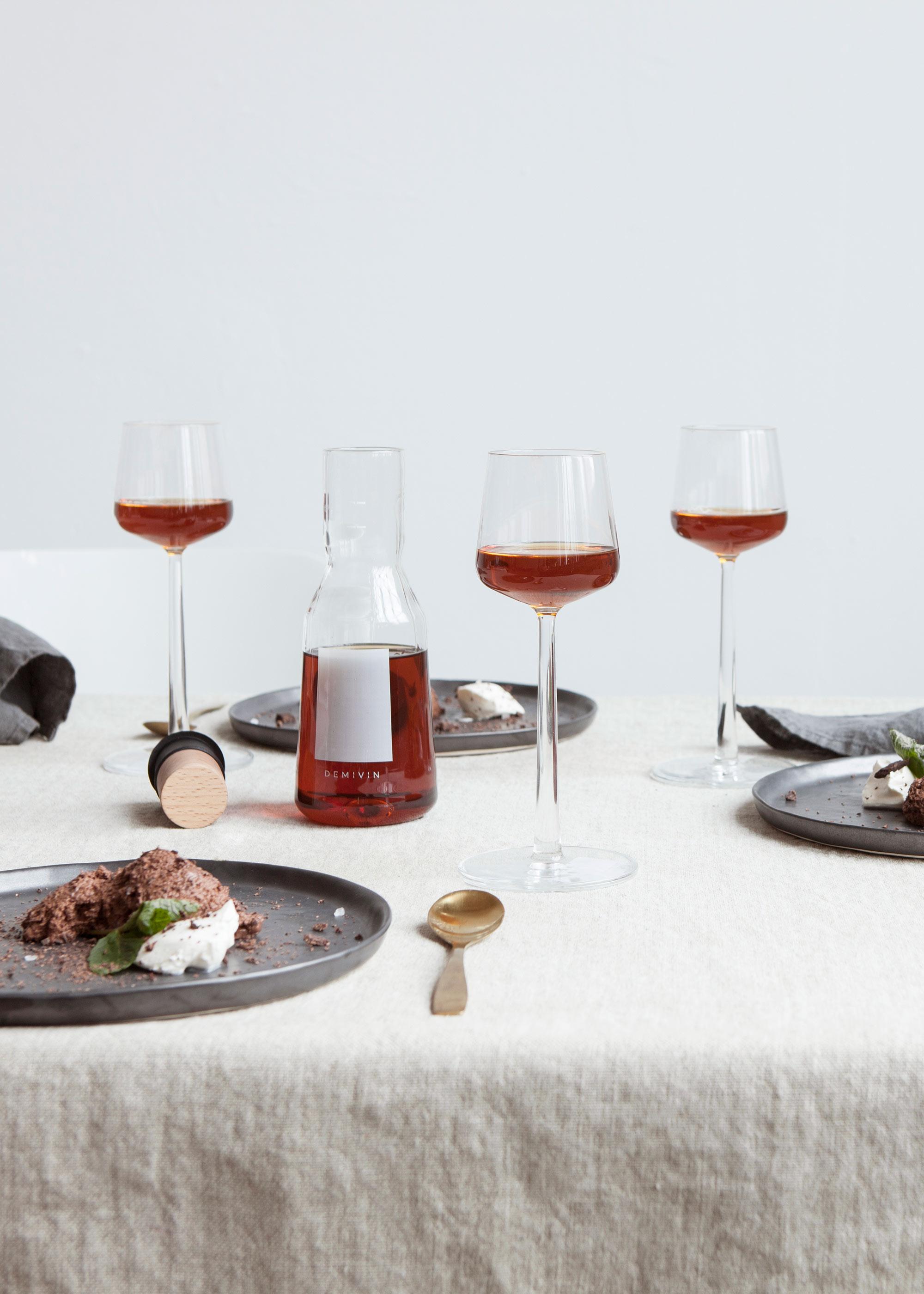 geopenderosé wijn bewaren in de Demivin