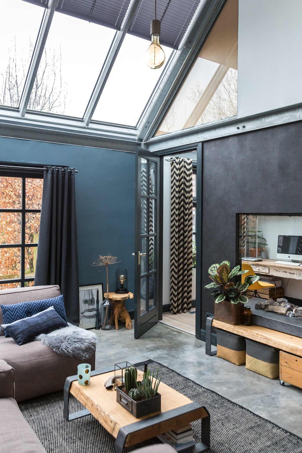 vrijstaande villa glazen dak