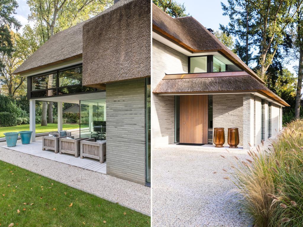 bk 3 buitenkant huis met hout en bruin