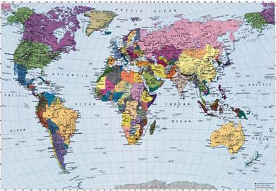 kinderkamer wereldkaart