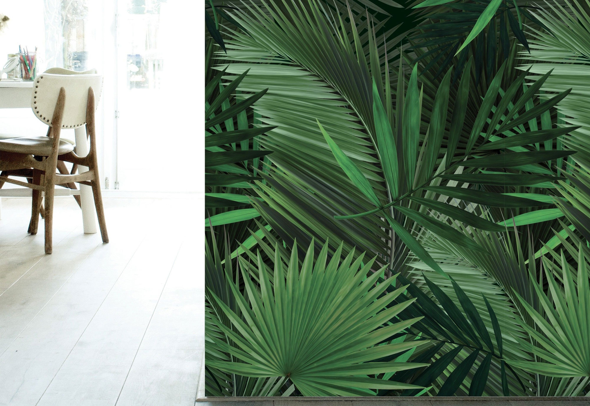 Behang met tropische prints - Kek Amsterdam