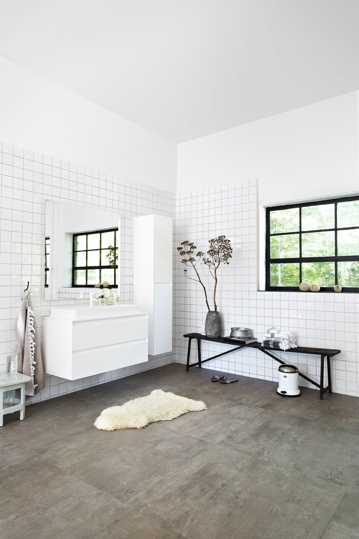 vtwonen in de badkamer