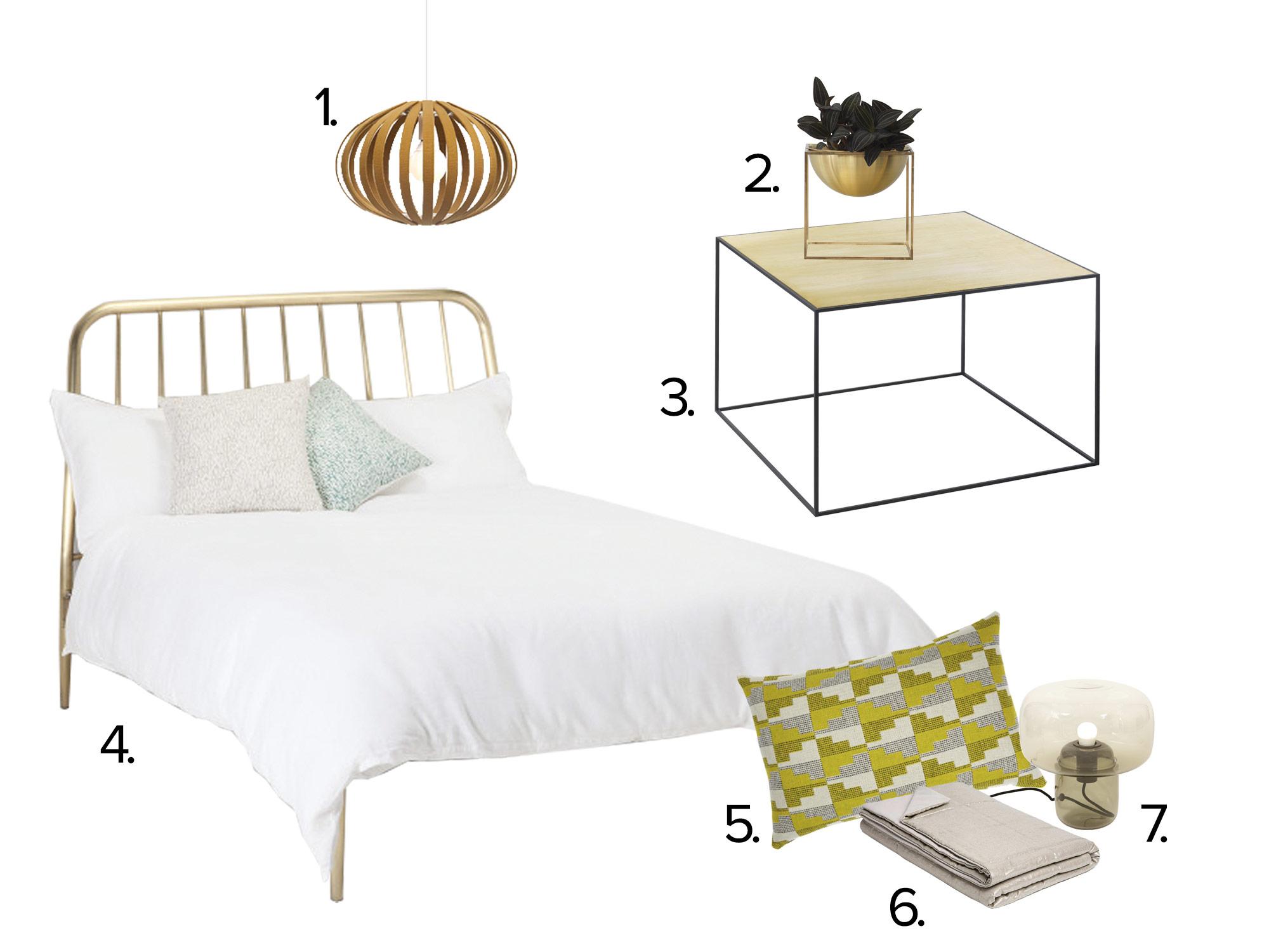 Slaapkamer goud