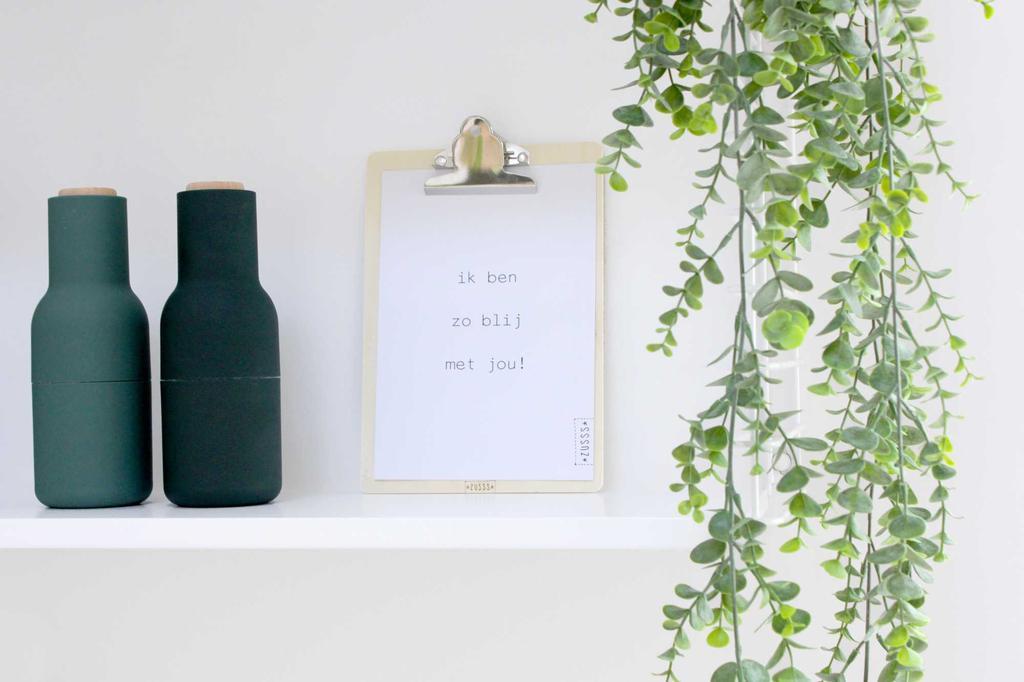 zusss klembord hout papier poster