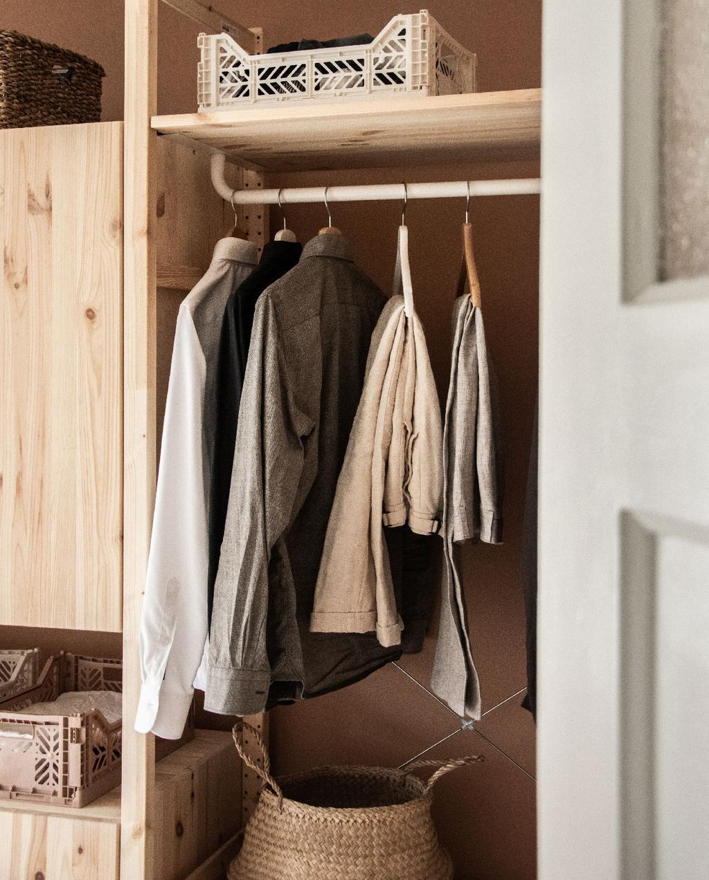 vtwonen blog rachel | open kledingkast ikea ivar diy
