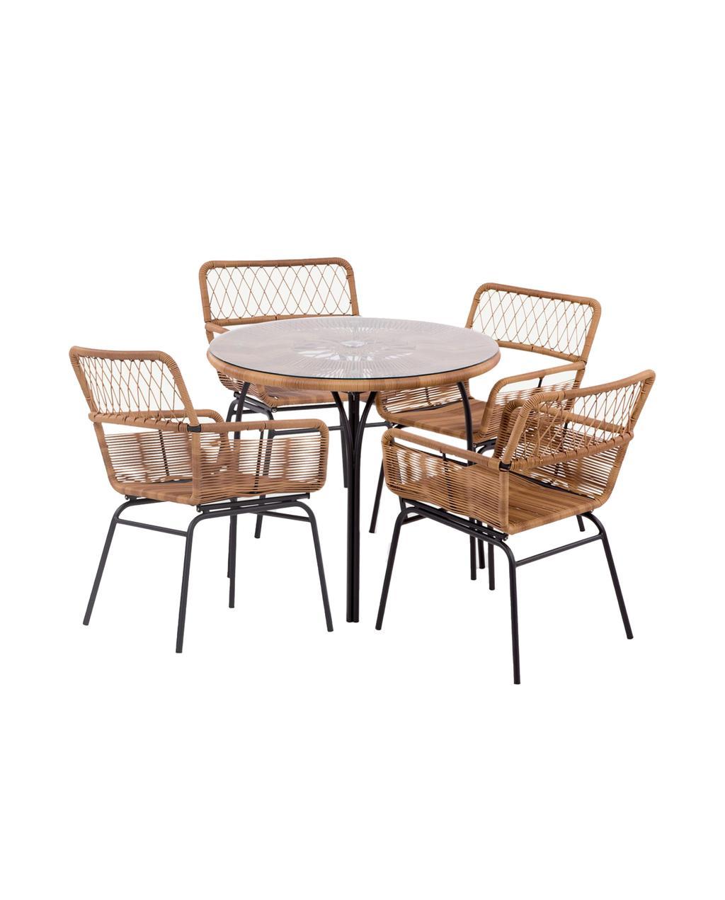 tuinset van Made met tuintafel en stoelen van Made