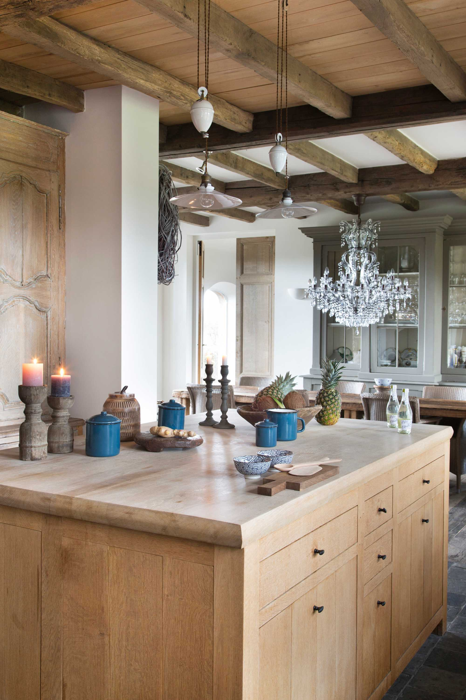 keukeneiland kandelaar blauw