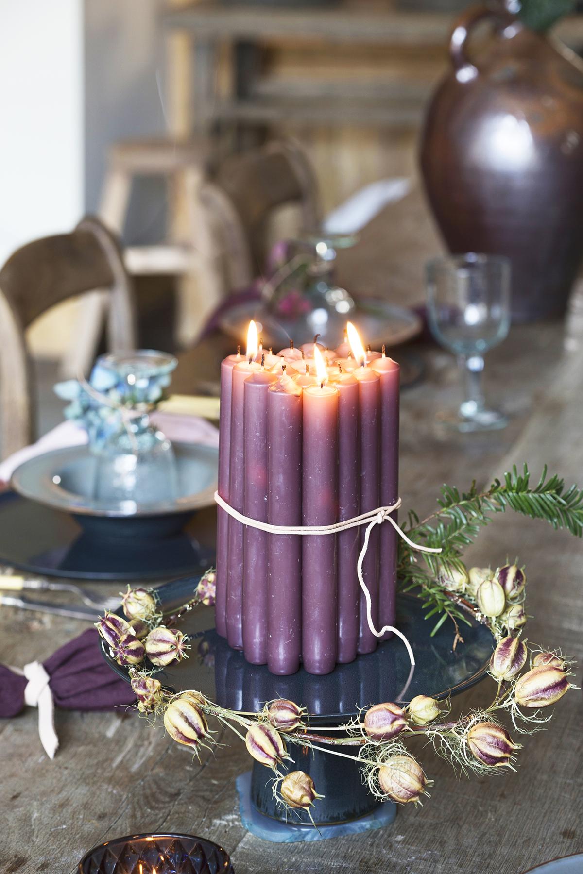pronkstuk kerst etagere kaarsen