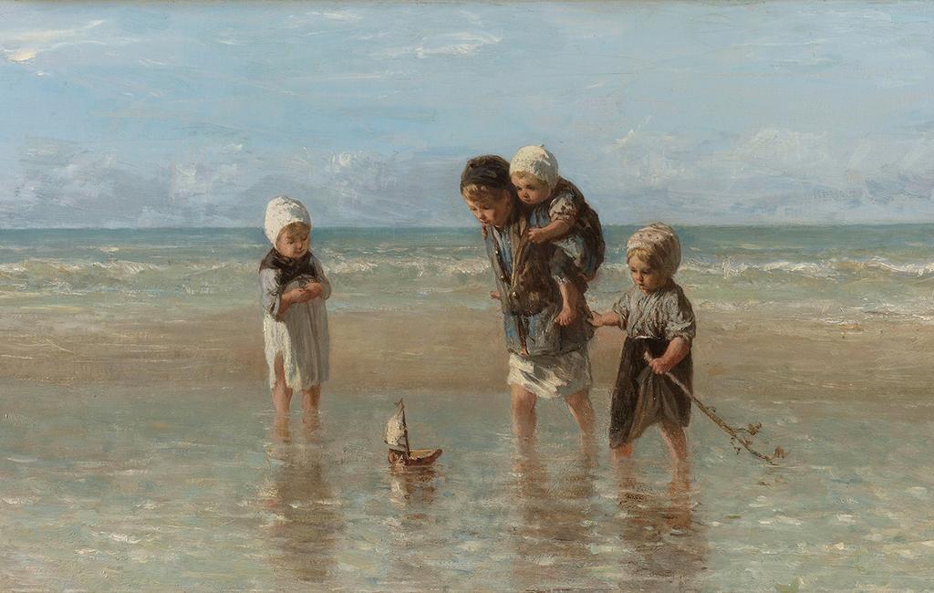 kunstwerk kinderen der zee van Jozef Israëls (1872)