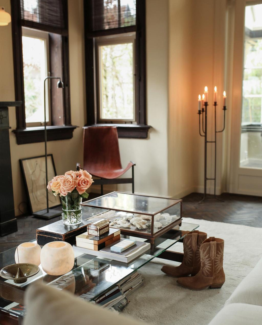 woonkamer ideeën romantisch vintage