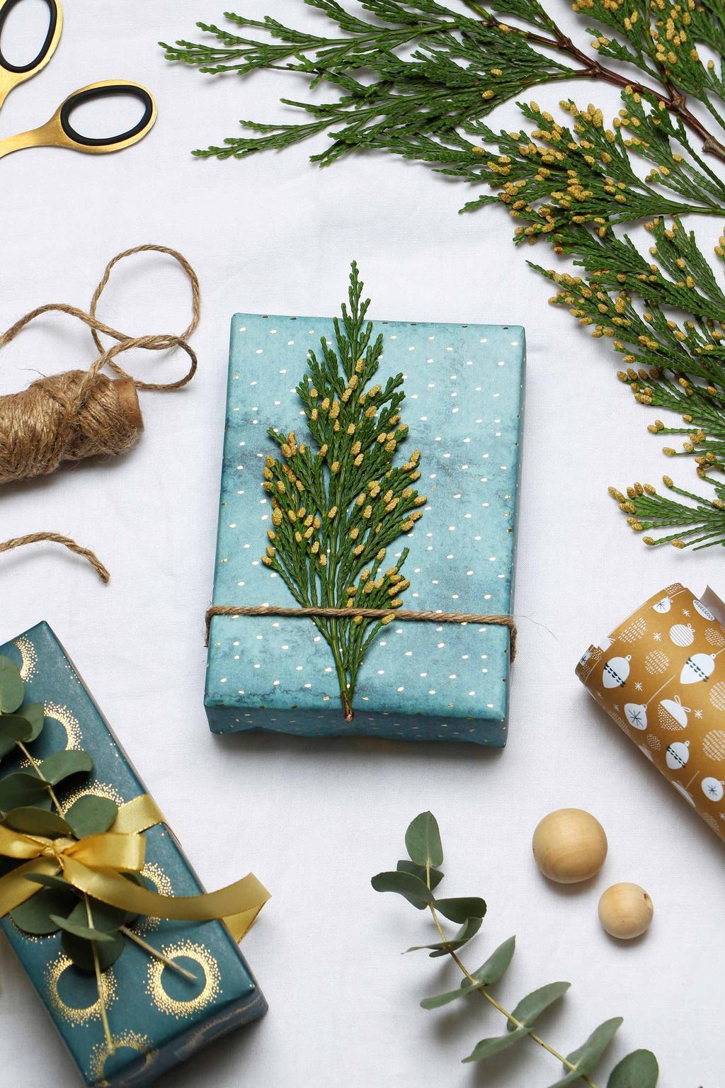 Kerstcadeaus groen inpakken My Attic