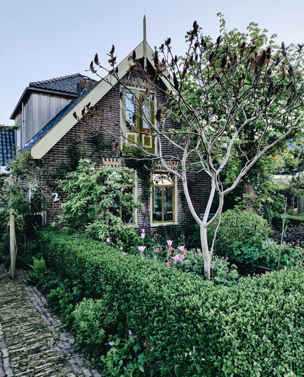 voorstellen nieuwe tuinbloggers vivian en mark | huis van de buitenkant met fruitboom in de voortuin
