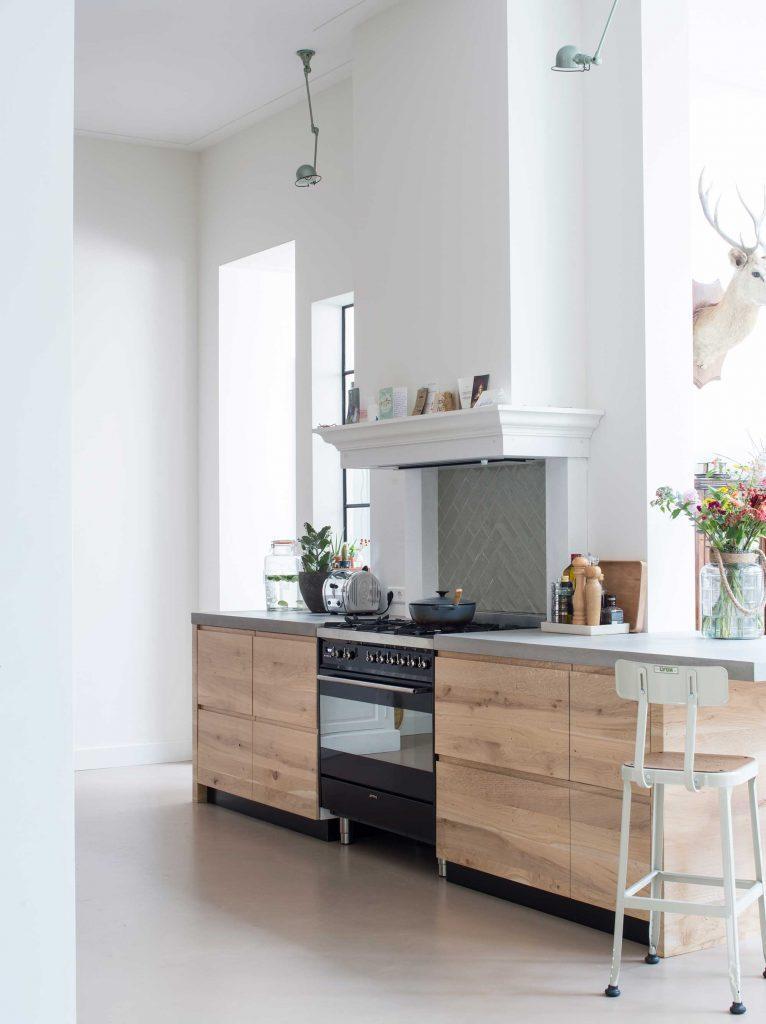 meubles cuisine naturel gris et blanc