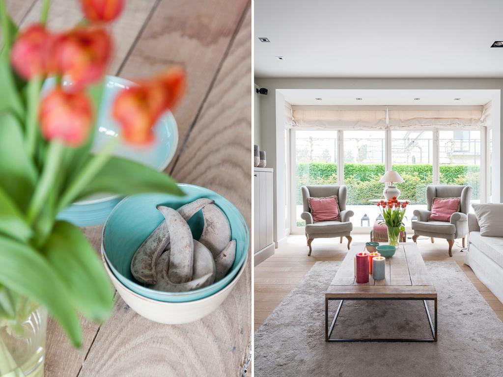 tack living bloemen woonkamer landelijk