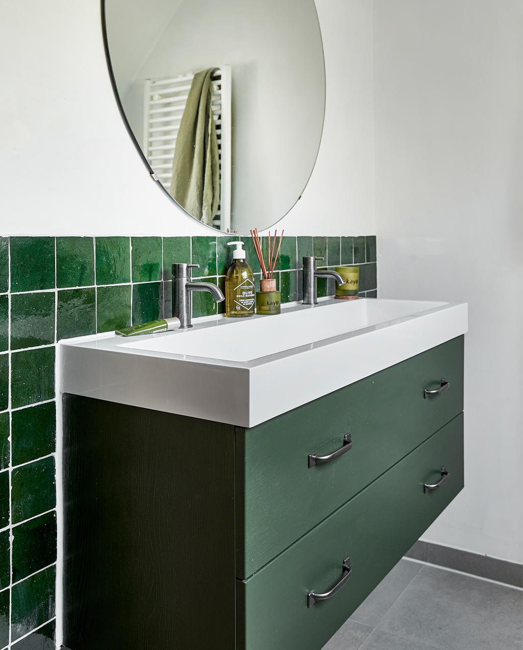 Groene badkamer in Wageningen